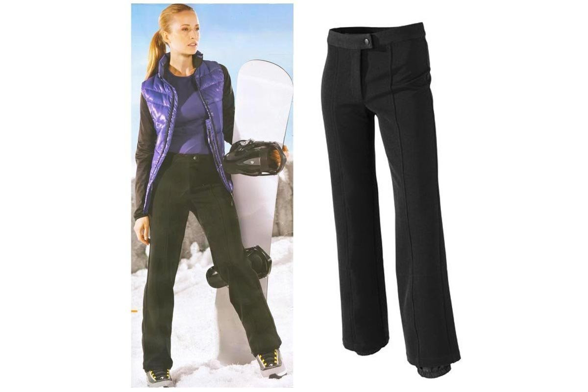 CRIVIT Damen Jethose / Wintersport Hose mit BIONIC®FINISH ECO, schwarz