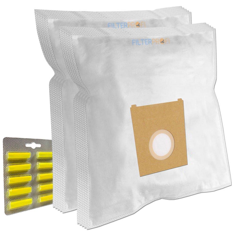 SET - 10 Air Fresheners Sticks + 10 Dustbags / Vacuum Cleaner Dust Bags For BOSCH Sphera 28 1800W, Super C Electronic 630, Super C Powerline Plus, Super C Turbojet, Super E 320/330 Filterprofi