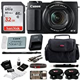 Canon PowerShot G1 X Mark II Digital Camera + 32GB Memory Card + Short Zoom Soft Shell Camera Case + Deluxe Accessory Kit