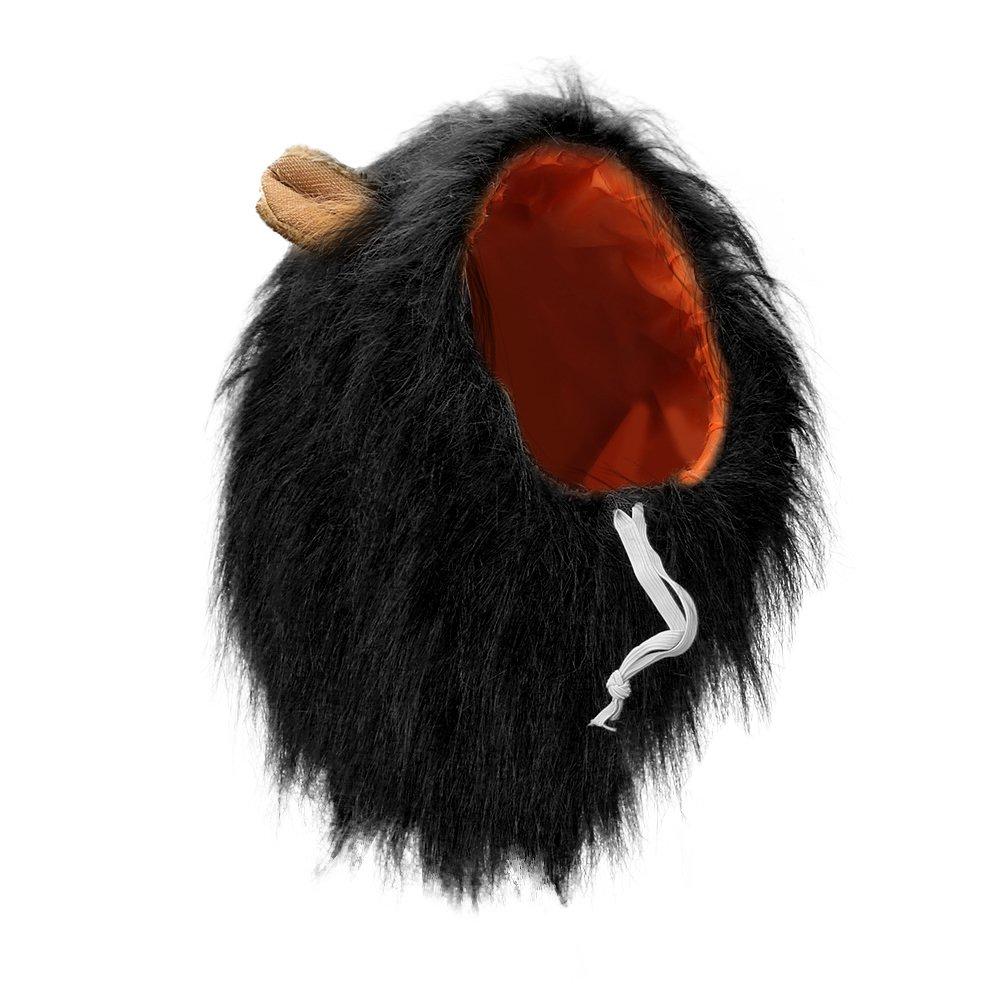 Vivifying Lion Mane Costume, Adjustable Pet Lion Mane Wig with Ears for Medium and Large Dog (Black) by Vivifying