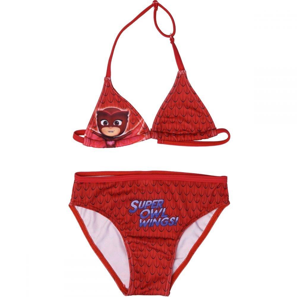 PjMasks Superpigiamini - Costume Bikini 2 pezzi Full Print Mare Piscina - Gufetta - Bambina - Novità Prodotto Originale 14049JP