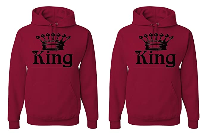 8f3818a9f4 FASCIINO LGBT Matching Gay Pride His & His Couple Hooded Sweatshirt Set -  King and King