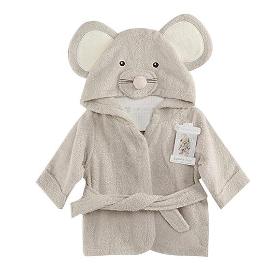 Fancyus Unisex ratón para niños de algodón para bebé con Capucha Albornoz de Toalla de baño, Gris: Amazon.es: Ropa y accesorios