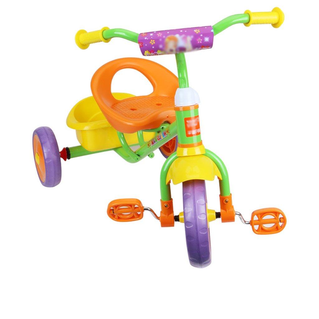 子供用トライク、三輪車の乗り物バイク、赤ちゃんの滑り自転車、おもちゃの自転車、自転車の子供、フットペダルの3つの車輪 (色 : A) B07FGDNGP1 A A