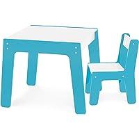 Conjunto de Mesa + Cadeira Infantil, Junges, Azul
