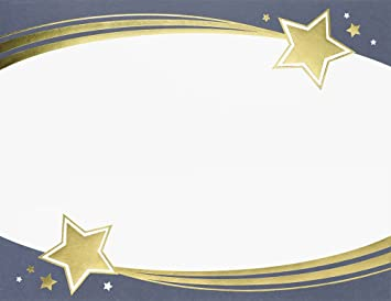 Amazon great papers shooting stars gold foil certificate shooting stars gold foil certificate 85quot x 11quot 15 yadclub Images
