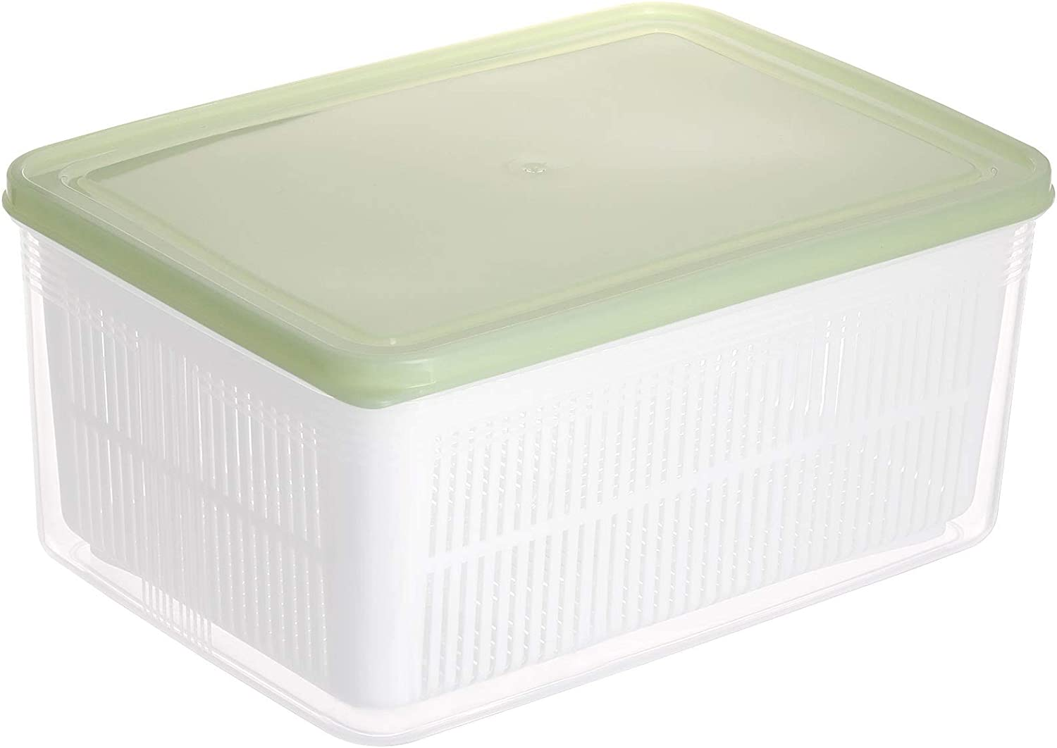 9 in Produce Containers Food Storage for Refrigerator, Berry Lettuce Saver with Filter