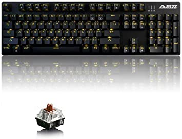 Ajazz AK52 Wired Mechanical Gaming Keyboard with 104 Keys//Backlit USB
