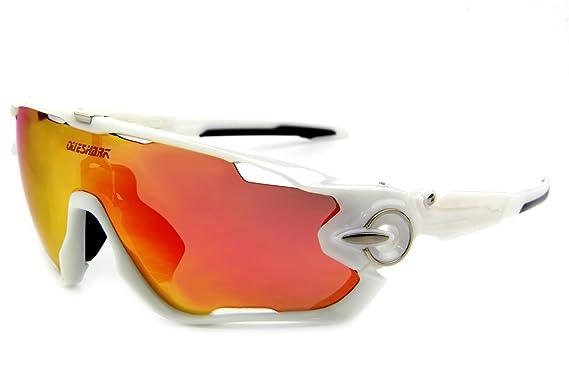 Queshark - Gafas de sol para ciclismo bicicleta, polarizadas, 3 lentes: Amazon.es: Ropa y accesorios