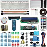 Smraza Basic Starter Kit with LCD 1602 (with IIC), Ultrasonic distance sensor, Servo Motor and Buzzer for Arduino and Raspberry Pi