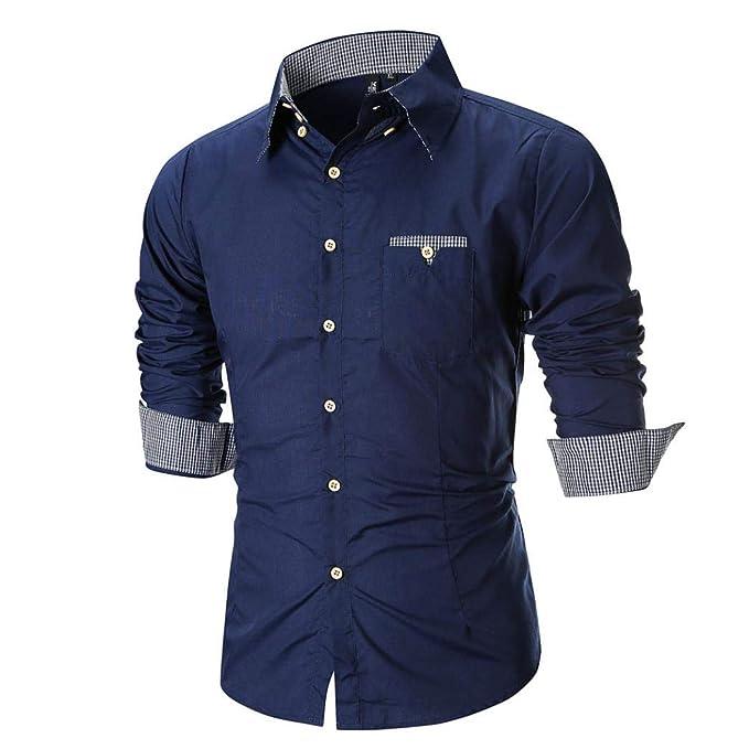 Yvelands Camisas abotonadas de la Moda del Asunto del otoño de los Hombres Mayores Camisa Delgada
