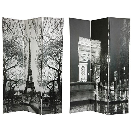 Oriental Furniture 6 ft. Tall Double Sided Paris Room Divider - Eiffel Tower/Arc de Triomphe by ORIENTAL FURNITURE