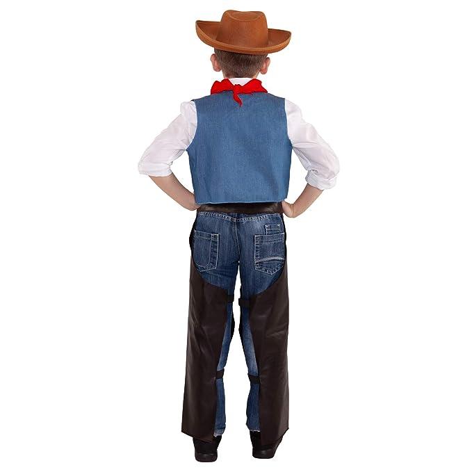 3604c8cbdd0a8 Morph Disfraz de Vaquero para niños Traje de Sheriff del Oeste Salvaje para  niños Rodeo Occidental para niños y niñas - Pequeño - (3 - 6 años)   Amazon.es  ...