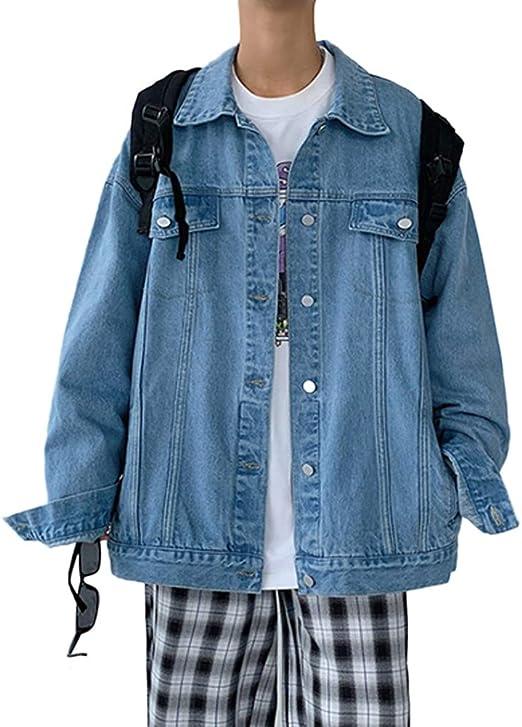 [YUANYUAN] 春と秋の服 コート メンズジャケット ジャケット メンズジャケット デニムジャケット メンズデニムジャケット 春と秋の ルーズ カジュアルジャケット メンズ ファッション トレンディ