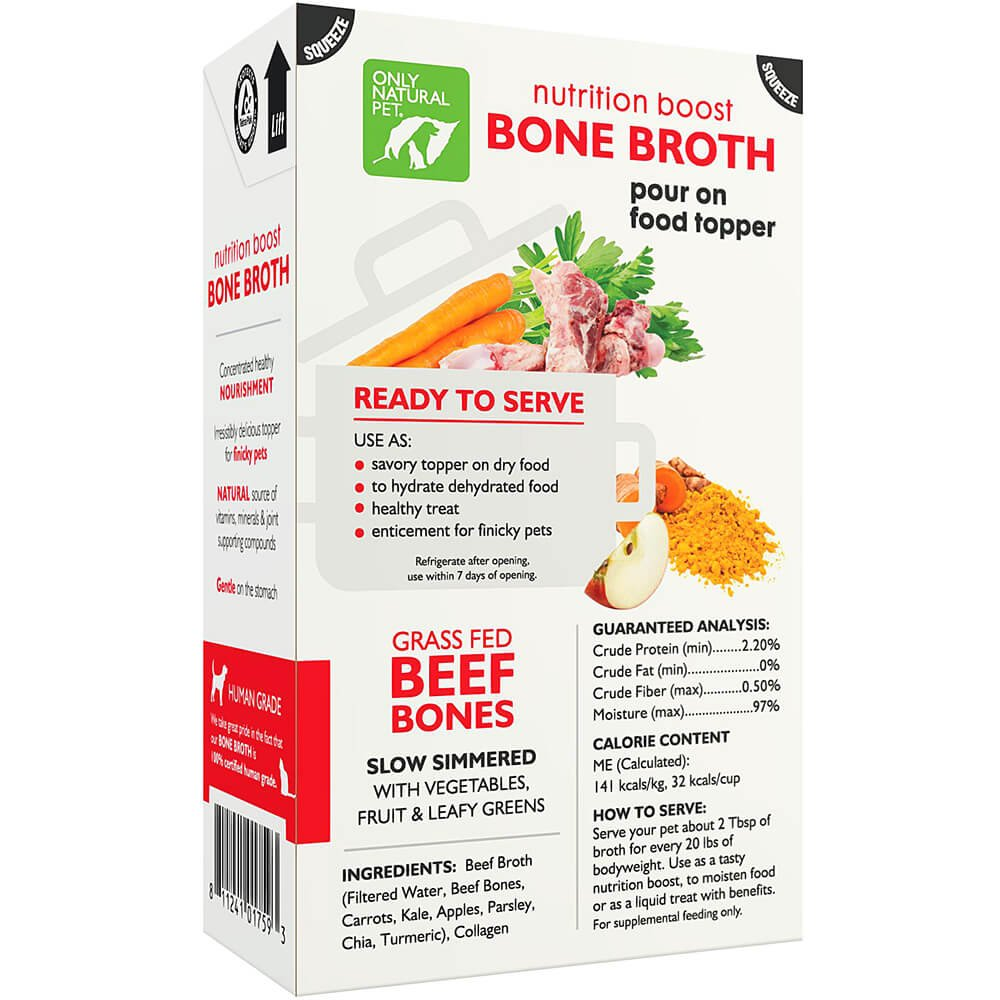Only Natural Pet Grass Fed Beef Bone Broth 17 oz 12 Case by Only Natural Pet (Image #4)