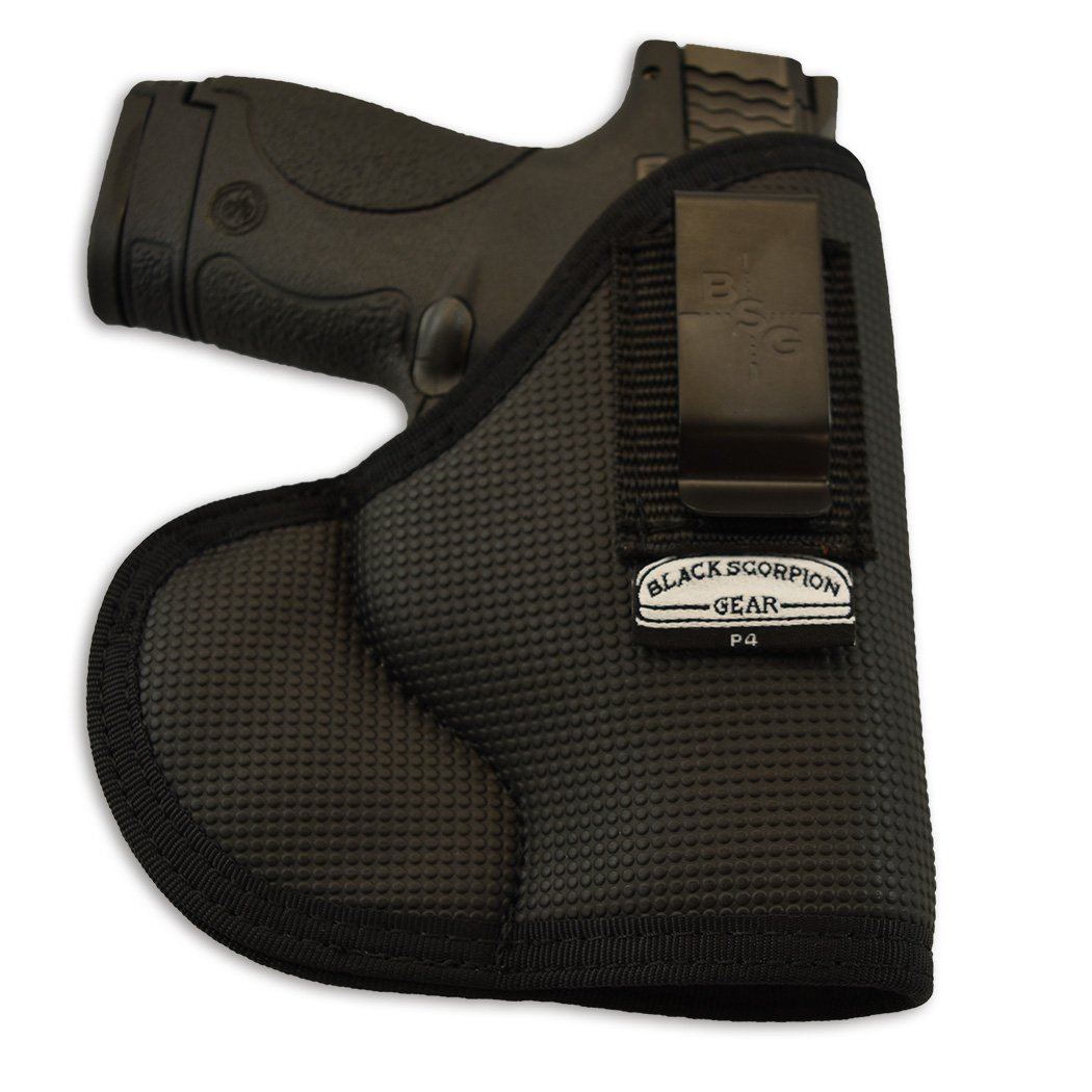 Black Scorpion Outdoor Gear , Punisher P4 Fusion IWB and Pocket Holster Ambidextrous,Concealment - Nylon - Fit for Glock 26,27/Keltec P11/Taurus 709 MP Shield/Springfield, All Similar guns