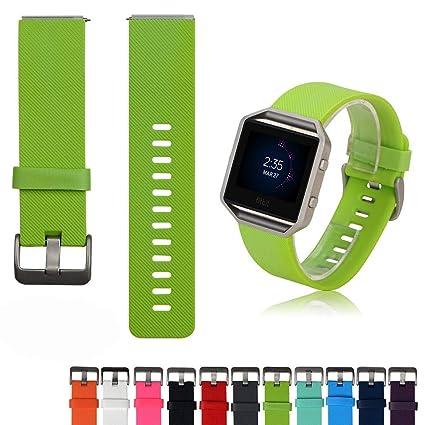 Accesorios de Fitbit Blaze Banda de Reloj - Feskio Suave de reemplazo de Silicona Reloj Deportivo