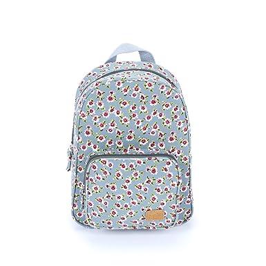 Girls Fashion Mini Backpack -Vintage Floral - Blue 587f7d6576379