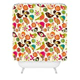 DENY Designs Valentina Ramos Little Birds Shower Curtain, 69 by 72-Inch