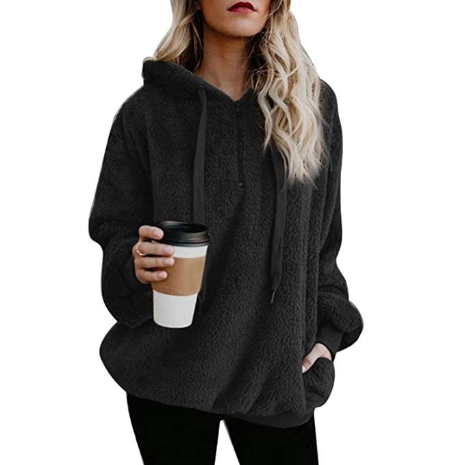 spyman 2018 Winter Shaggy Oversized Hoodies Women Sweatshirts Korean Ladies Long Sleeve Tumblr Hoodies Pullover Jumper Sudadera Mujer, Gray, XXL at Amazon ...