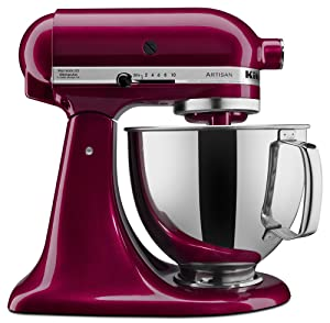 KitchenAid KSM150PSBX Artisan Series 5-Qt. Stand Mixer with Pouring Shield - Bordeaux