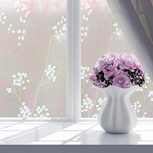 45x100cm 3D Static Cling Frosted Window Glass Film Sticker Privacy Home Decor