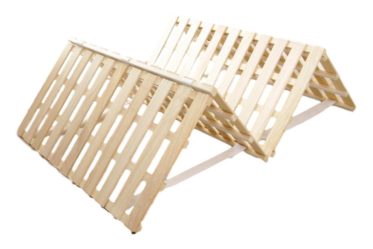 主婦のMIKATA 天然木桐 すのこベッド 4つ折り