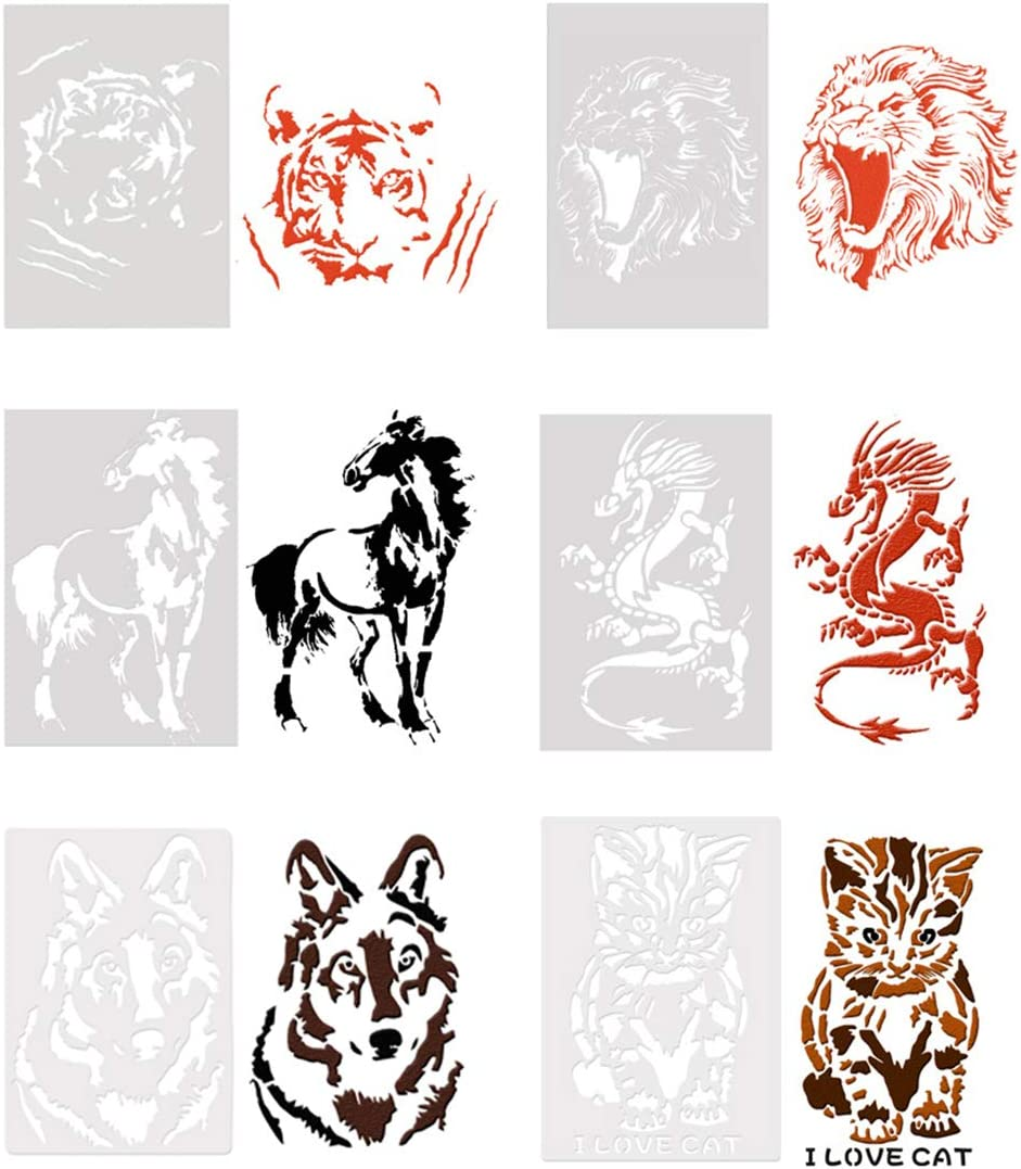 Amazon Com 6pcs Drawing Painting Stencils Wolf Lion Tiger Horse Dragon Cat Animals Template Sets For Craft Projects Home Art And Kids Creation 7x10 24 Inches Amazing lion facts for kids. 6pcs drawing painting stencils wolf lion tiger horse dragon cat animals template sets for craft projects home art and kids creation 7x10 24 inches