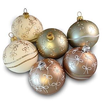Pastellfarbene Christbaumkugeln.Amazon De Weihnachtskugeln 6er Set Christbaumkugeln
