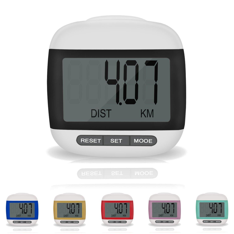 Incutex podómetro cuentacalorías podómetro con pantalla LDC step counter podómetro negro