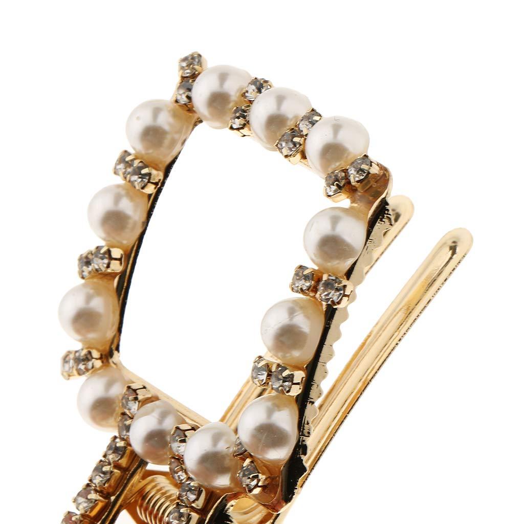 Rond dor Baoblaze Pinces /à Cheveux Barette /à Cheveux en Alliage Cristal Perles Cheveux de Mode pour Femme