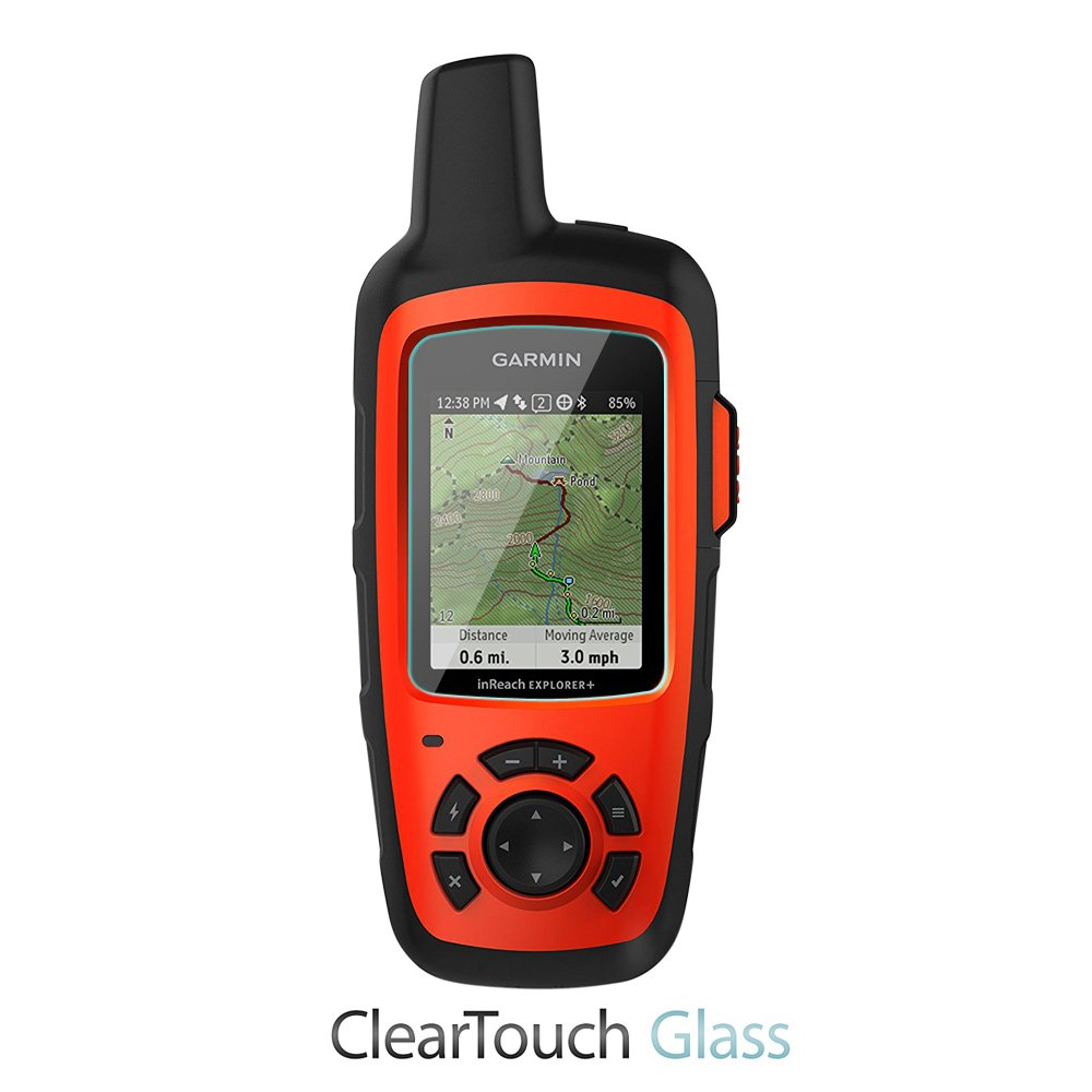 ClearTouch Glass 9H Tempered Glass Screen Protection for Garmin inReach Explorer+ Garmin inReach Explorer+ Screen Protector SE+ BoxWave
