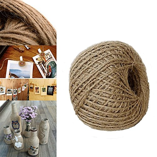 Top 250' Feet Jute Twine Natural Rope 2Ply Twisted String Parrot Bird Toy Craft Part free shipping