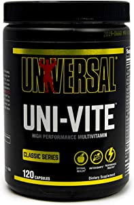 Universal Nutrition Uni-Vite Capsules -30 day supply of highly potent and effective vitamins and minerals, 120 Count