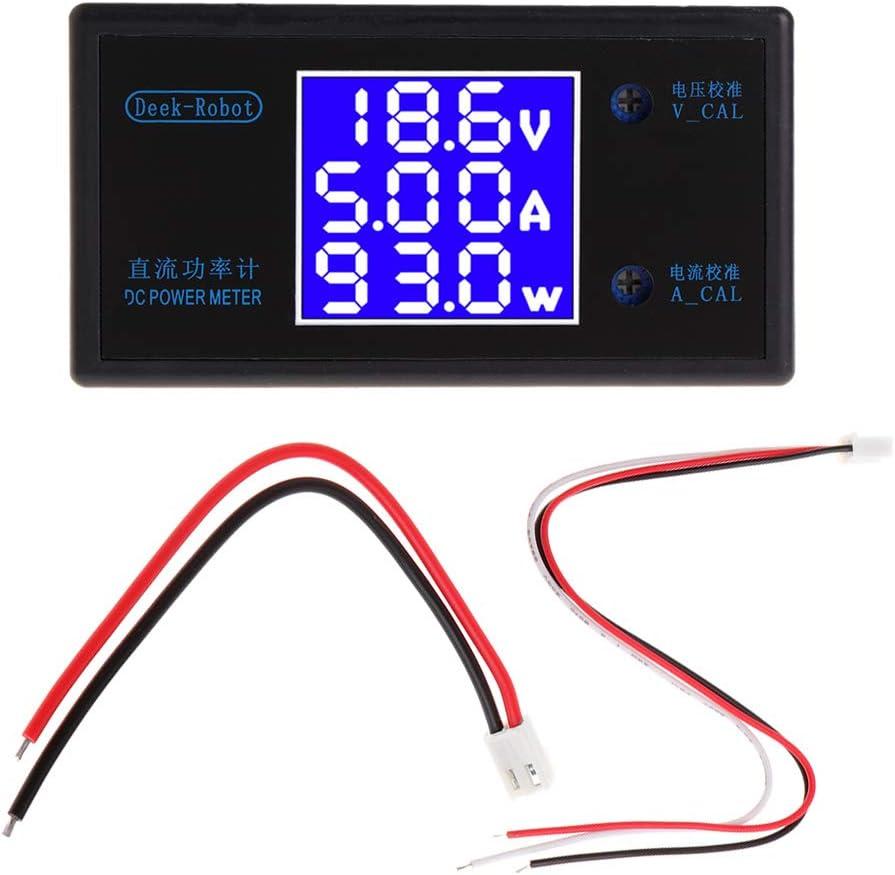 JENOR DC 0-50V 5A 250W LCD Digital Voltímetro amperímetro Wattmeter voltaje corriente medidor de voltaje detector de voltaje Monitor 12 V 24 V 36 V