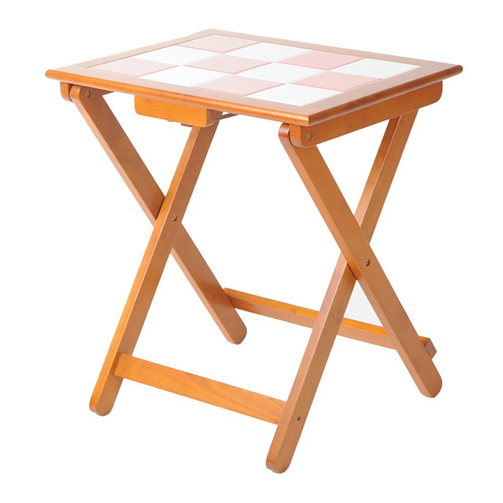 LXF 折りたたみテーブル ソリッドウッド折りたたみディナーテーブルシンプルな正方形テーブルポータブルトレーニングテーブルアンチホット高温抵抗53 * 42 * 70CM B07C672KNH