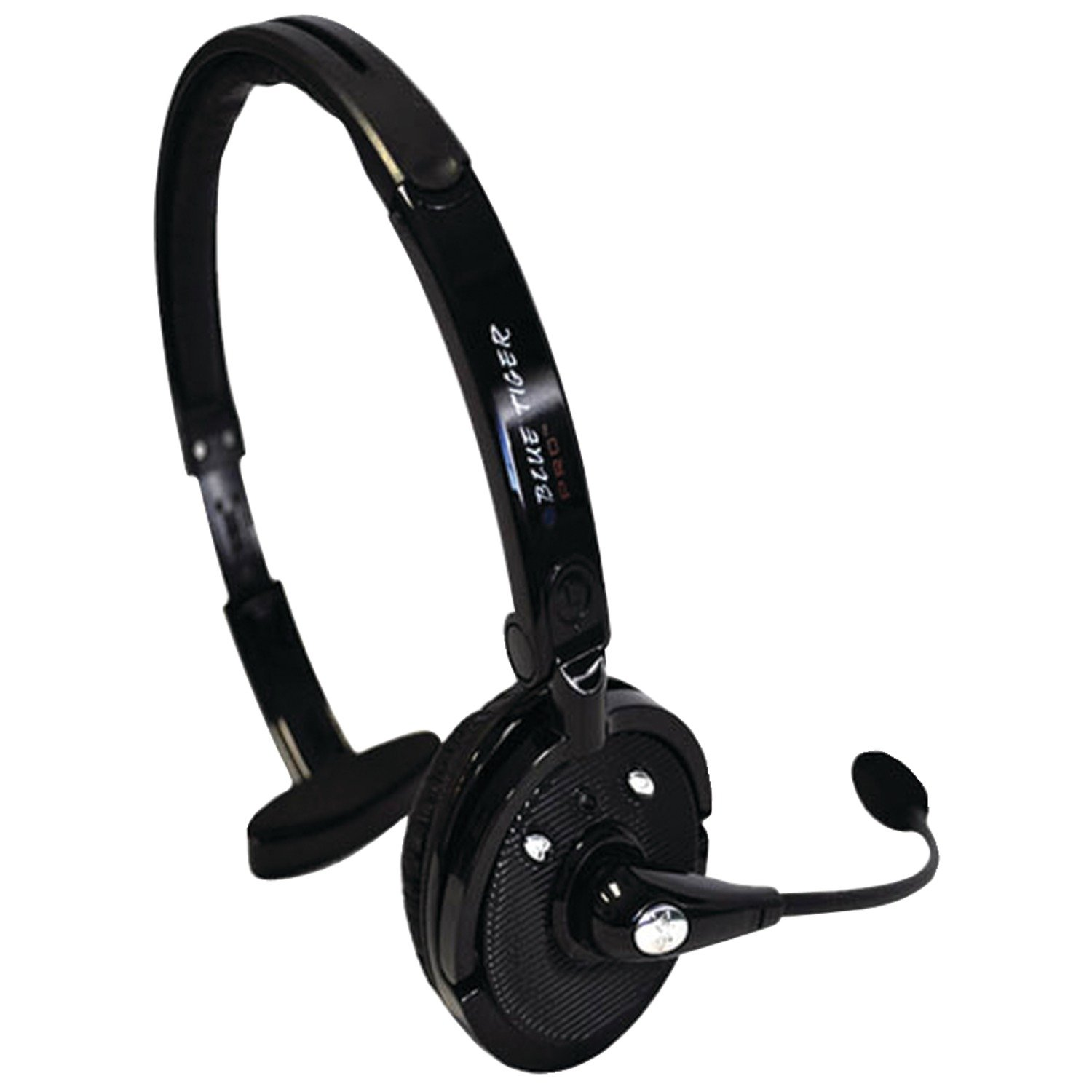 Blue Tiger Trucking Accessories - Pro Wireless Bluetooth Headphones – Premium Professional Truckers' Noise Cancelling Headset with Microphone – Dual Device Connection with No Wires - 20 Hour Talk Time – Black