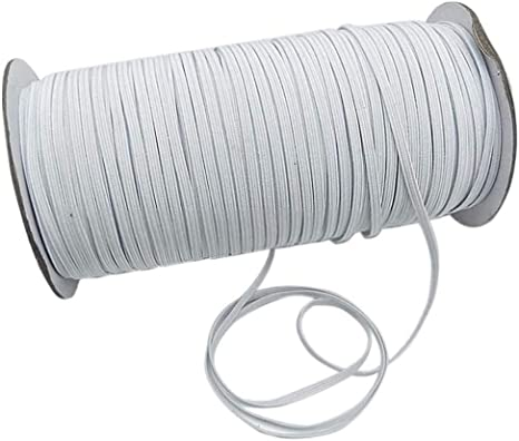 Elastic Cord for Masks Elastic for Sewing 1//8 inch 3mm 100 Yards Round Elastic Strap Rope String Heavy Stretchy High Elasticity Knit Elastic Band for Sewing DIY Face Mask Elastic Cord