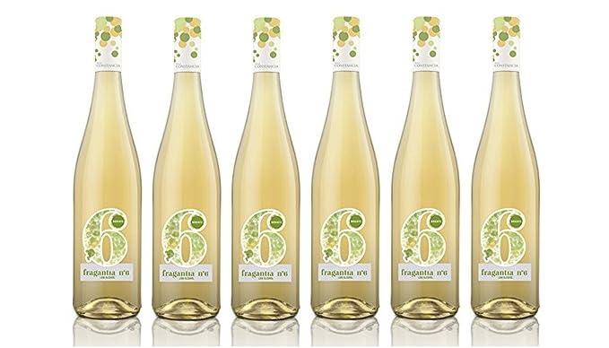 Fragantia 6 - Vino Blanco Baja Graduación V.T. Castilla - 6 Botellas de 750 ml -