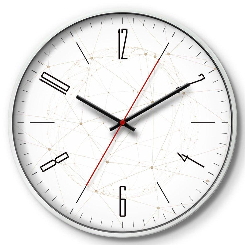 掛け時計 時計クリエイティブウォールクロックリビングルームベッドルームミュートクロッククォーツ時計多次元スペース Rollsnownow (容量 : A, 色 : 白) B07BK19GRQ A|白 白 A