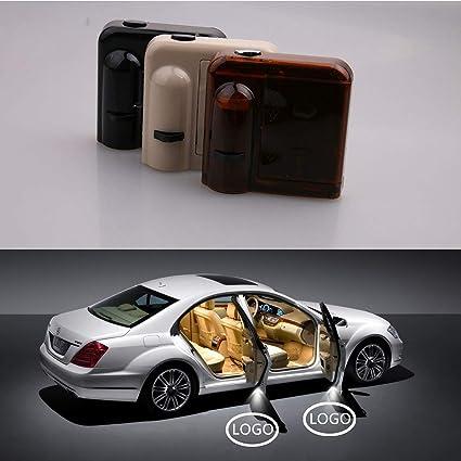 FERRARI Logo de iluminación LED para puerta de coche, 2 piezas de ...