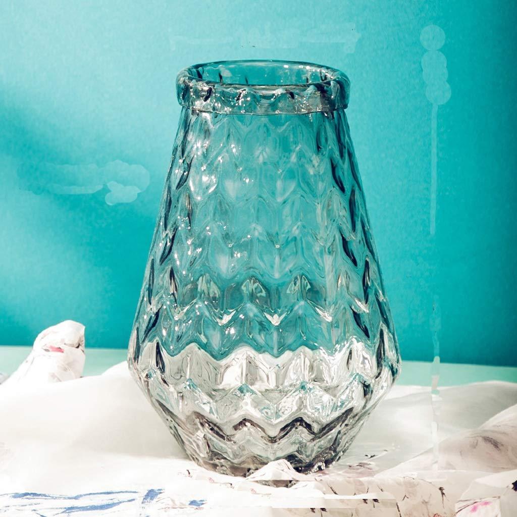 パイナップル花瓶リビングルーム透明ステンドグラス手作り花家の装飾 QYSZYG (サイズ さいず : 13cm*30cm*11cm) B07RKVWNGC  13cm*30cm*11cm