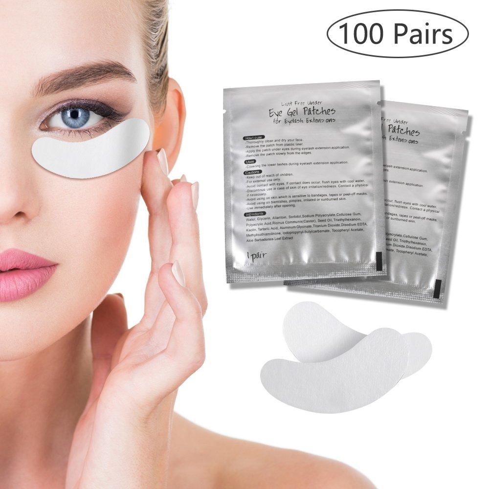 Ciglia dell' occhio Pad, 100paia di cuscinetti in gel, comodo e fresco Eye gel Patches for Eyelash extension Eye Mask Ciglia dell' occhio Pad Stanbow