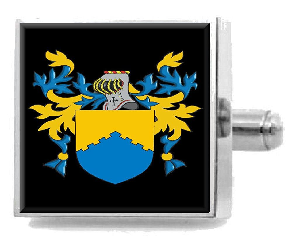 Select Gifts Mowat Scotland Heraldry Crest Sterling Silver Cufflinks Engraved Message Box