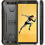 "【2019】Blackview BV5500 Rugged Smartphone IP68 Dual Sim da 16GB, 32GB Espandibili, Batteria 4400mAh, 5.5"" HD+ 2GB ROM, 8MP e 5MP, 3G Cellulare Android 8.1, GPS/GLONASS/Face ID/Bussola/WIFI-Nero[Italia]"