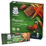 Gerber Organic Fruit & Veggie Bar Date & Carrot, 40 Count