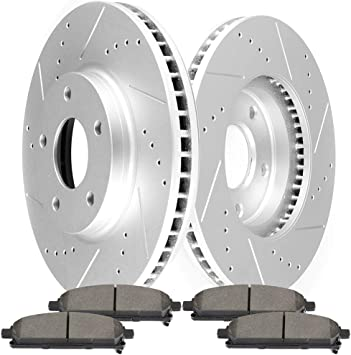 Front And Rear Rotors /& Ceramic Pads For 2004 2005 2006 2007 2008-2013 Quest