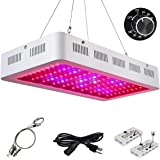 Roleadro 300W Dims LED Grow Light, Red Blue White Spectrum Plant Grow Lights with ON OFF Switch & Dimming Buttons and Dasiy Chain Function, Galaxyhydro Series Indoor Plants Lamp for Veg and Flower