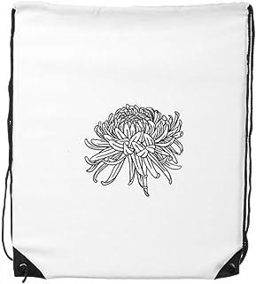 DIYthinker Fleur Plante Chrysanthème Illustration Drawstring Backpack Sacs de Sport Shopping Cadeau