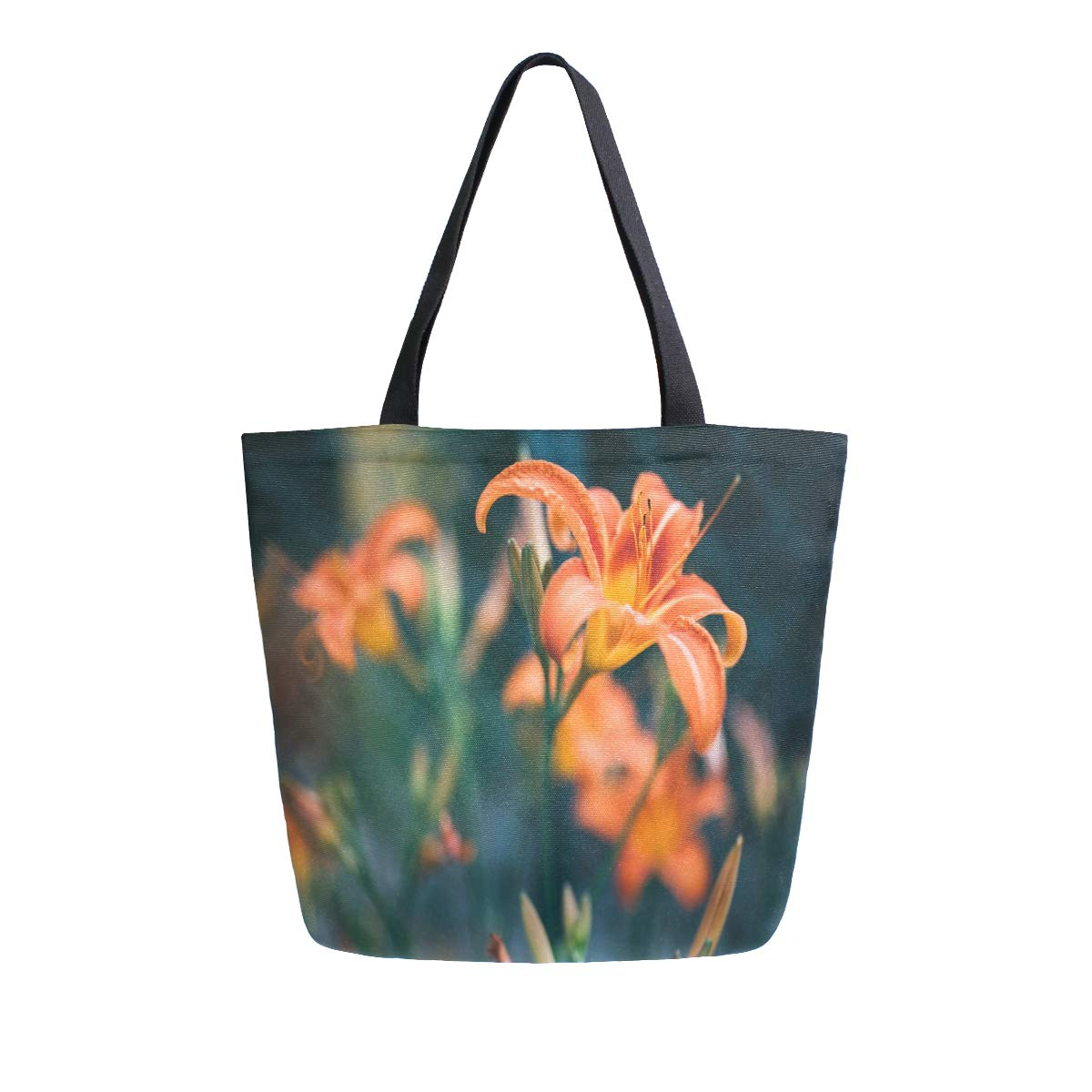 Canvas Tote Bag Flower...